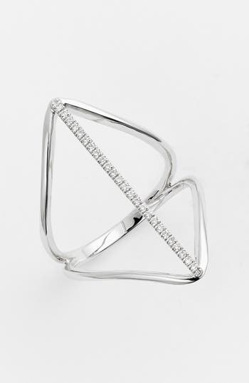 Bony Levy 'Prism' Diamond Pavé Elongated Bar Ring (Nordstrom Exclusive)