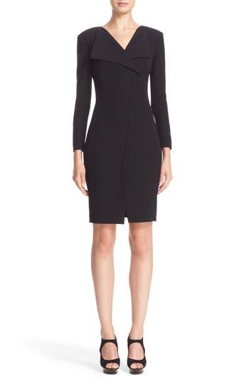 Armani Collezioni Tech Cady Asymmetrical Wrap Dress