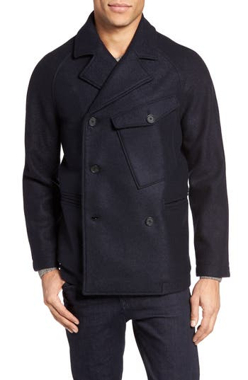 Billy Reid Phil Virgin Wool Peacoat