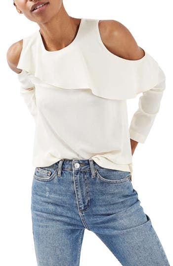 Topshop Izzy Cold Shoulder Top