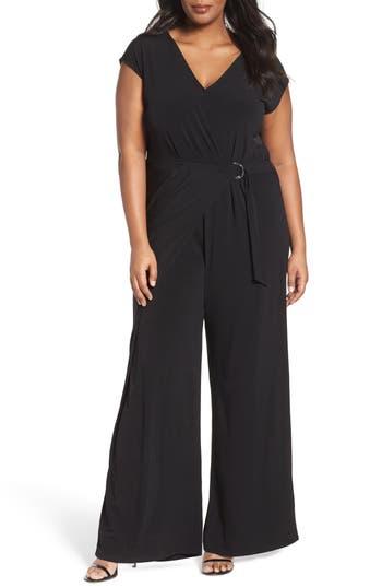 MICHAEL Michael Kors Wrap Front Jumpsuit (Plus Size)