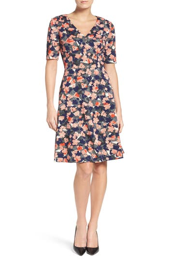 Donna Morgan Floral Fit & Flare Dress (Regular & Petite)