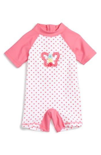 Little Me Dot Butterfly One-Piece Rashguard Swimsuit (Baby Girls)