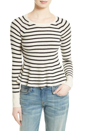 La Vie Rebecca Taylor Stripe Lambswool Sweater