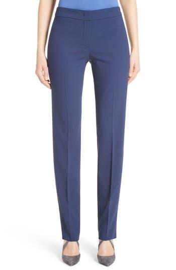 Armani Collezioni Slim Textured Stretch Wool Pants