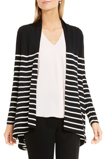 Vince Camuto Stripe Cardigan (Regular & Petite)
