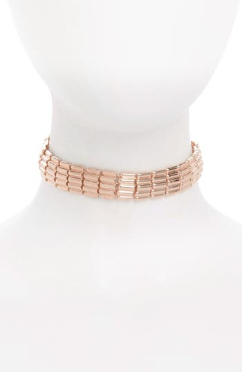 Topshop Heavy Scale Choker Necklace