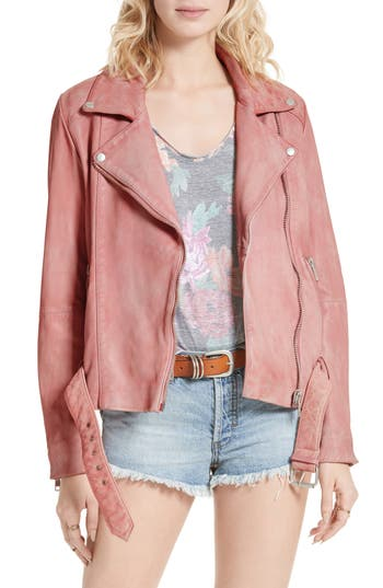 Free People Leather Moto Jacket