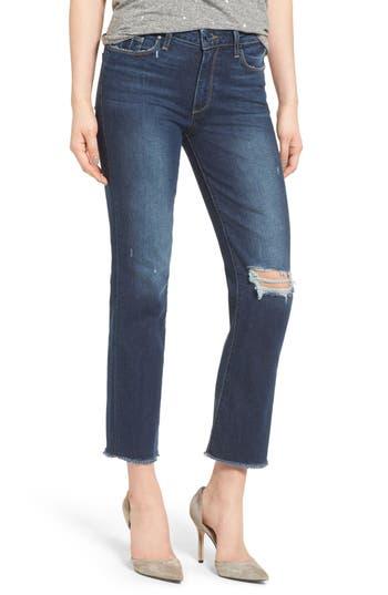 PAIGE Jacqueline Straight Leg Jeans (Domino Destructed)