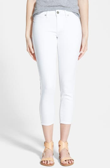 PAIGE 'Verdugo' Crop Skinny Jeans (Ultra White)