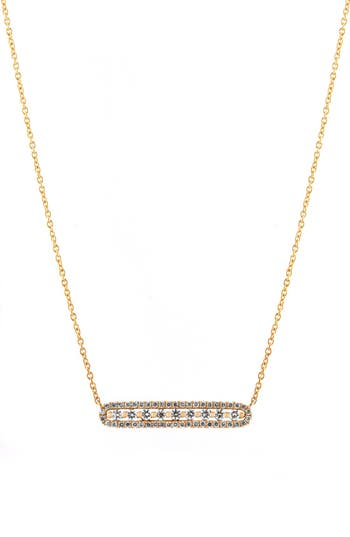Bony Levy Diamond Bar Pendant Necklace (Nordstrom Exclusive)