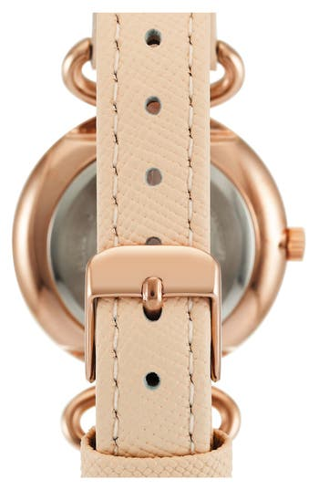 Anne Klein Leather Strap Watch, 32mm