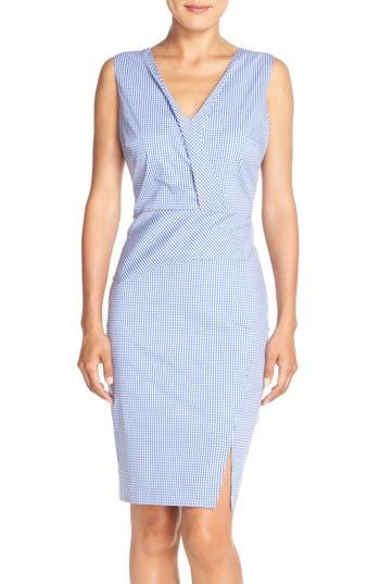NYDJ 'Ophelia' Gingham Stretch Cotton Sheath Dress