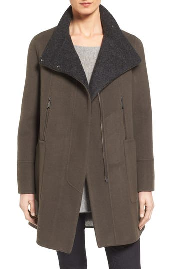 Elie Tahari Double Face Wool Swing Coat