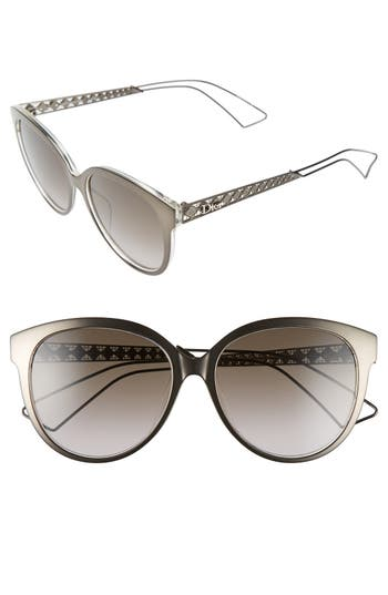 Dior 56mm Cat Eye Sunglasses
