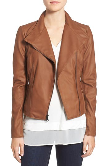 Marc New York by Andrew Marc 'Felix' Stand Collar Leather Jacket