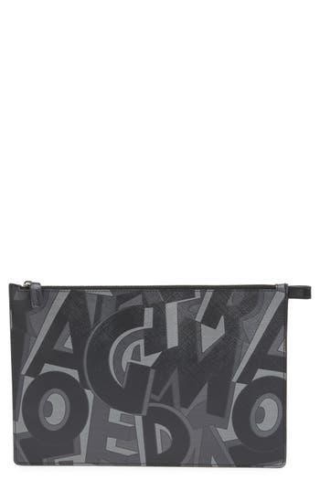 Salvatore Ferragamo 'Fusion' Leather Zip Pouch