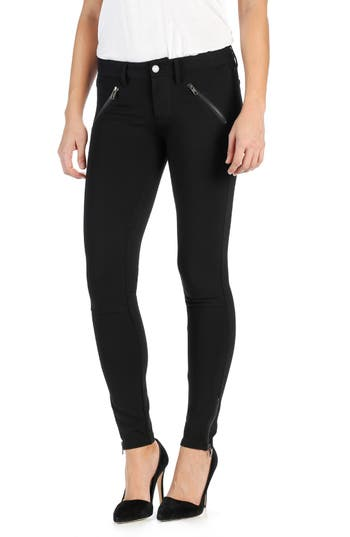 PAIGE 'Dover' Ankle Zip Skinny Ponte Pants