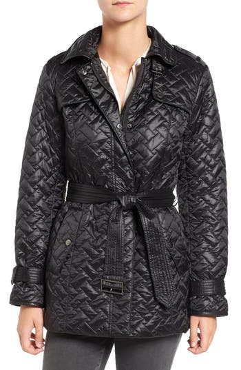 Cole Haan Quilted Trench Coat