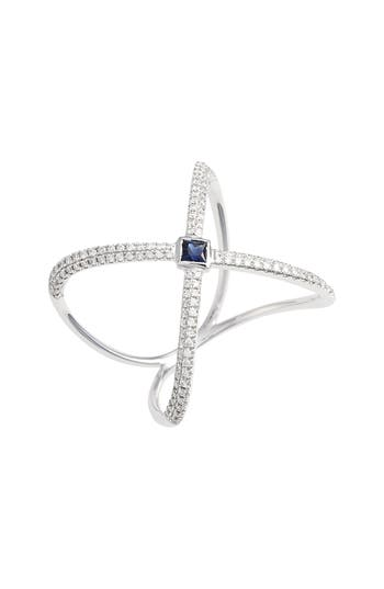 Bony Levy Diamond & Gem Crossover Ring (Nordstrom Exclusive)