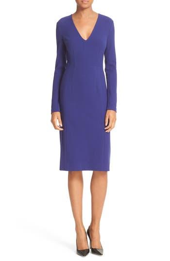 Diane von Furstenberg Milena Fitted Crepe Sheath Dress