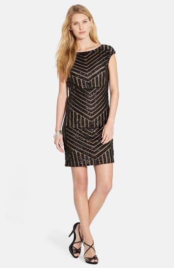 Lauren Ralph Lauren Geo Sequin Sheath Dress (Petite)