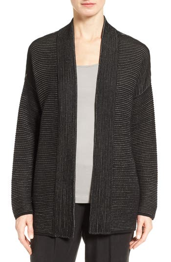 Eileen Fisher Silk Blend Ottoman Knit Cardigan