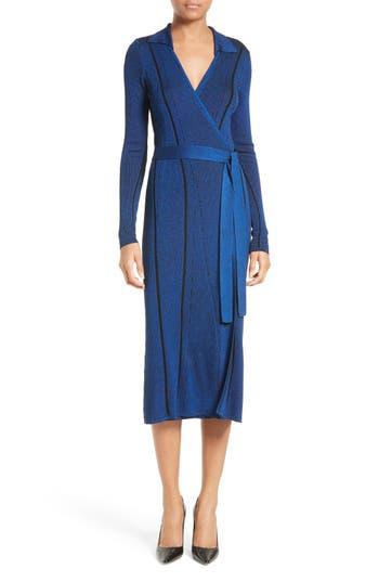 Diane von Furstenberg Ribbed Wrap Dress