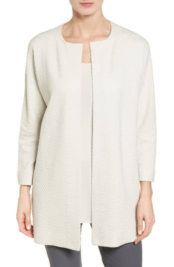 Eileen Fisher Silk Blend Jacquard Jacket (Regular & Petite)