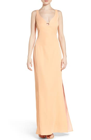 Laundry by Shelli Segal Cutout Crepe Gown