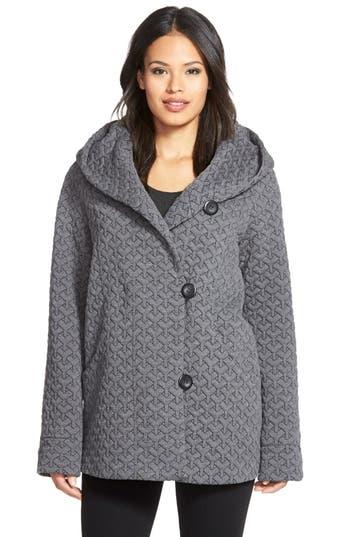 Gallery Hooded Jacquard Fleece Topper