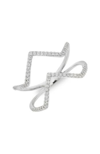 Bony Levy Double Chevron Diamond Ring (Nordstrom Exclusive)