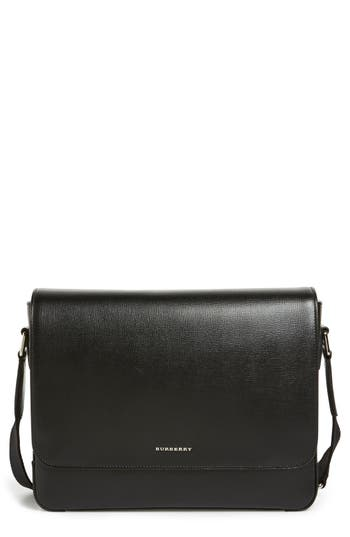 Burberry 'New London' Leather Messenger Bag