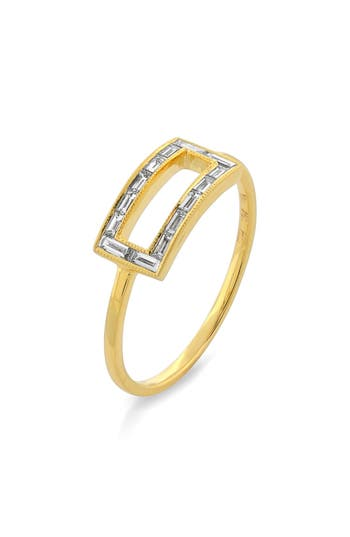 Bony Levy Baguette Diamond Rectangle Ring (Nordstrom Exclusive)