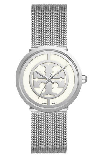 Tory Burch 'Reva' Mesh Strap Watch, 36mm