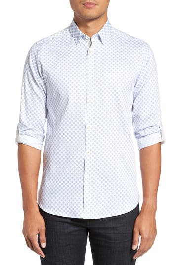 Ted Baker London 'Timbrook' Trim Fit Medallion Print Sport Shirt