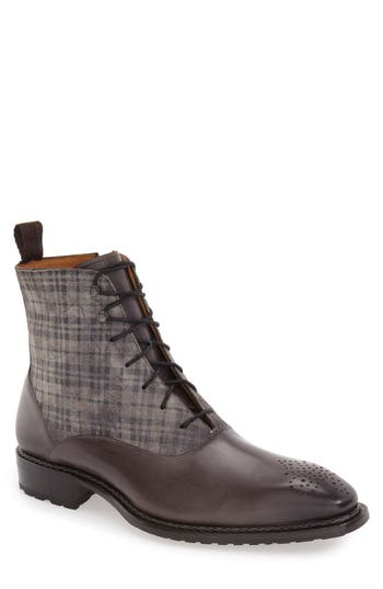 Mezlan 'Grimaldi' Medallion Toe Fabric Shaft Boot (Men)