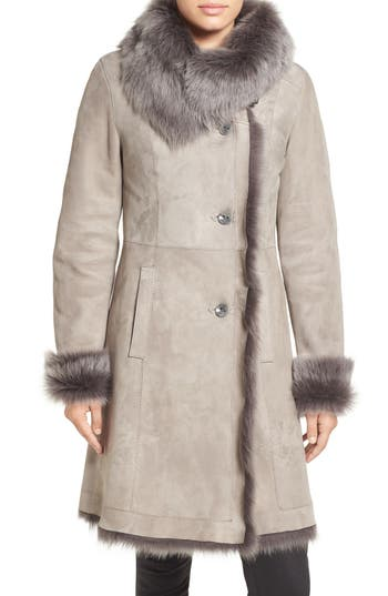 HIDESOCIETY Envelope Collar Genuine Toscana Shearling Coat