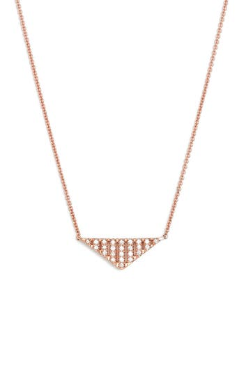 Dana Rebecca Designs 'Jeb' Triangle Pendant Necklace