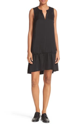 ATM Anthony Thomas Melillo Satin Ruffle Hem Dress