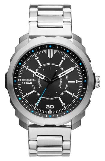 DIESEL® Machinus NSBB Bracelet Watch, 46mm