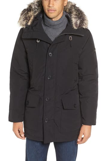 Michael Kors Faux Fur Trim Down & Feather Fill Snorkel Parka