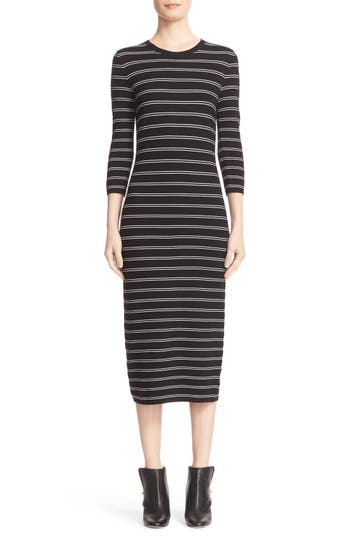 Theory 'Delissa B' Stripe Textured Knit Maxi Dress