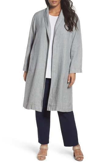 Eileen Fisher Long Organic Linen Jacket (Plus Size)