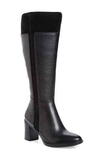 Naturalizer Frances Knee High Wide Calf Block Heel Boot (Women)