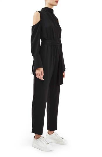 Topshop Boutique Cold Shoulder Jumpsuit