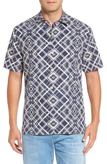 Tommy Bahama Dourados Diamonds Standard Fit Silk Camp Shirt