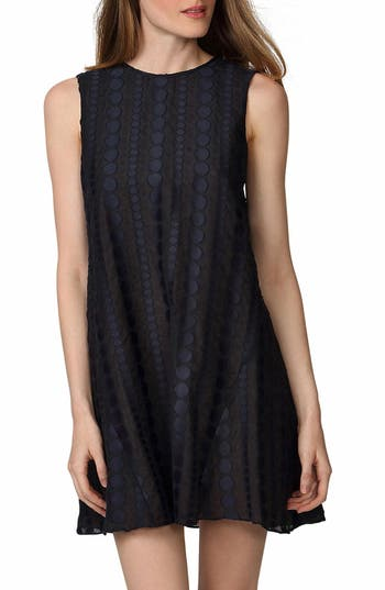 Donna Morgan Jacquard Trapeze Dress