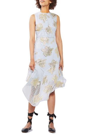 Topshop Asymmetrical Hem Midi Dress