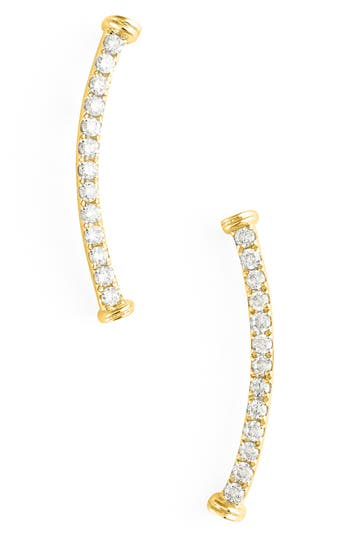 Bony Levy Diamond Curve Bar Earrings (Nordstrom Exclusive)